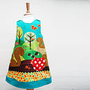 Squirrel Woodland Girls Dress
