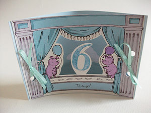 Mini Theatre Age Six Card - birthday cards