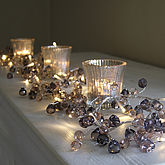 Graphite Crystal Light Garland - christmas decorations