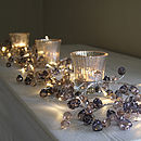 Graphite Crystal Light Garland