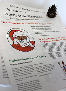 North Pole Express   Christmas Newspaper - stocking fillers