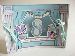 Mini Theatre Age Eight Card - birthday cards