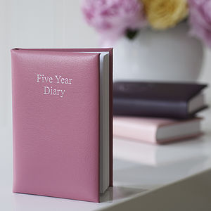 Leather Five Year Diary - 2015 calendars & diaries