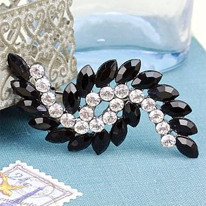 Black Gatsby Brooch - pins & brooches