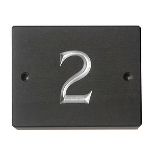 British Slate House Number Three Sizes Available