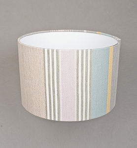 Mistley Stripe Lampshade Small - bedroom