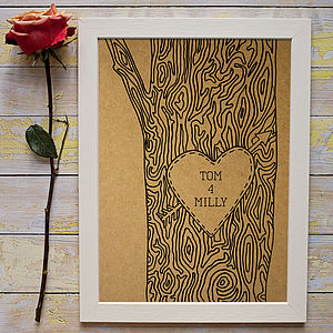 Personalised Tree Trunk Print - engagement gifts