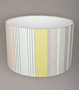 Mistley Stripe Lampshade Medium - lamp bases & shades