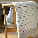 Chalkney Woven Throw Ecru