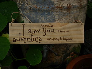 Hand Engraved Winnie The Pooh Quote - room decorations