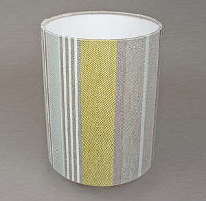 Mistley Stripe Lampshade Tube - bedroom