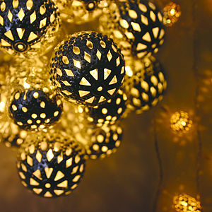 Grand Maroq Silver String Lights - view all decorations
