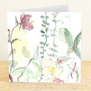Winter Helebore Greetings Card - all purpose cards, postcards & notelets