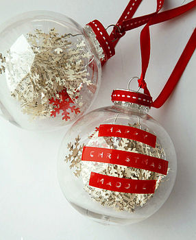 Personalised Snowflake Confetti Bauble