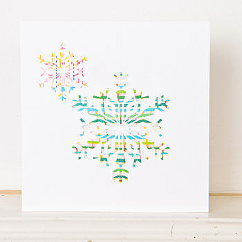 Christmas Snowflake Greetings Card