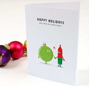 Happy Holidays Personalised Christmas Cards - christmas cards