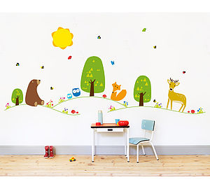 Farm Or Forest Nursery Wall Stickers - wall stickers