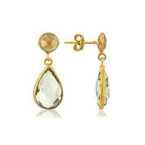 Fiesta Green Amethyst Teardrop Earrings - women's jewellery