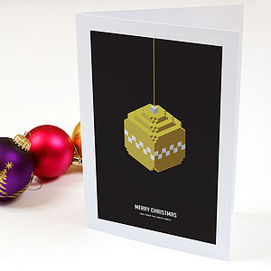 Christmas In Three D Personalised Card Set - christmas cards