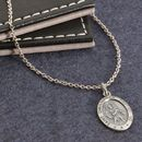 Personalised Men's St Christopher Silver Necklace