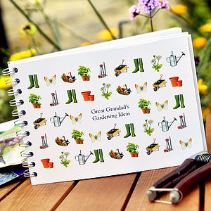 Personalised Gardening Journal - gardener