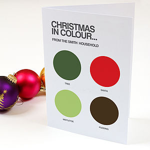 Christmas In Circles Personalised Card Set