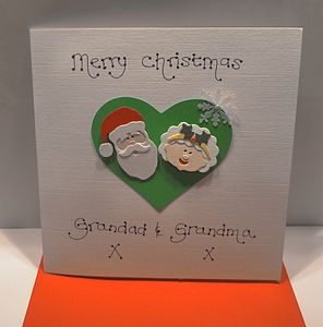 Personalised Mr And Mrs Claus Christmas Card - winter sale
