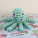 Octopus Cotton Crochet Baby Rattle