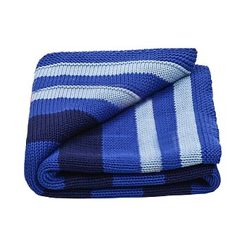 Baby Boy's Stripy Knitted Blanket