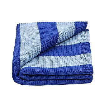 Baby Boy's Wide Stripe Knitted Blanket