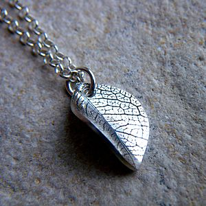 Leaf Imprint Necklace
