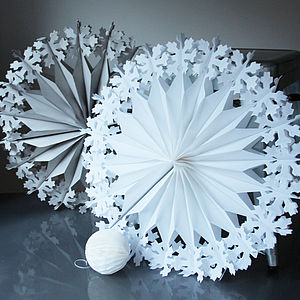 Paper Luxe Supersize Snowflake Decorations - living room