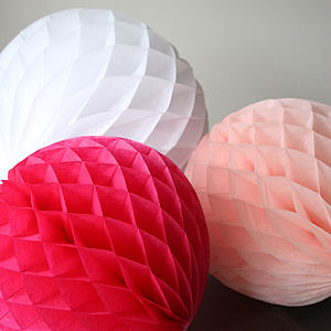 Paper Luxe 35cm Honeycomb Ball Decorations - outdoor decorations