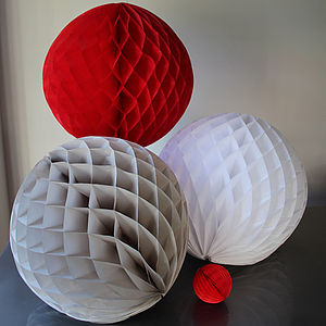 Paper Luxe 50cm Honeycomb Ball Decorations - christmas parties & entertaining