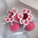 Handmade Baby Bamboo Flower Shoes