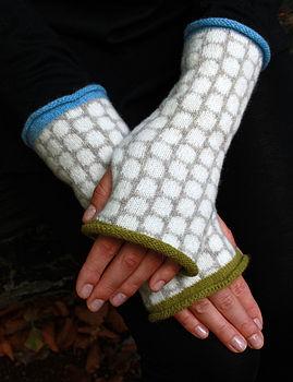 Spotty Odd Wrist Warmers