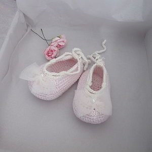 Handmade Baby Ballerina Shoes - babies' socks & booties