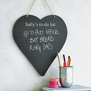Personalised Heart Chalkboard - for grandmothers