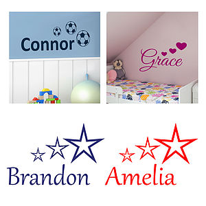 'A Great Choice Of Kids Name Wall Stickers'