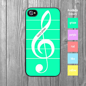 Musical Treble Clef iPhone Case Personalised - leisure