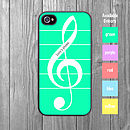 Musical Treble Clef iPhone Case Personalised