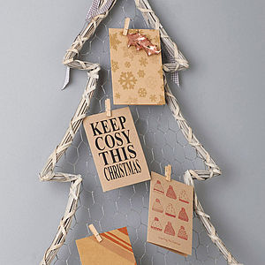 Brown Recycled Christmas Cards