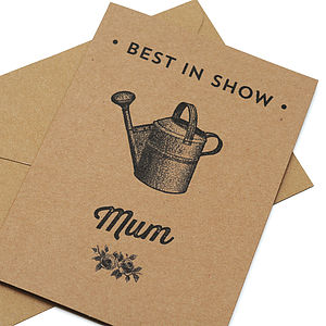 'Best In Show' Card For Mum