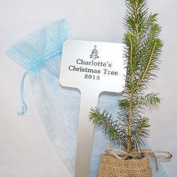 Personalised Christmas Tree Plaque Gift
