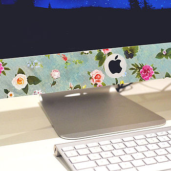 'Floral Computer Screen Sticker'
