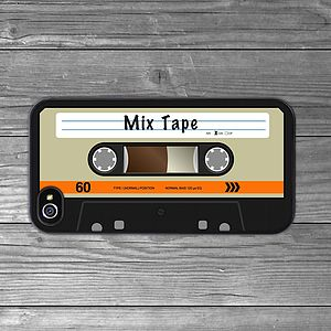 Cassette Tape iPhone Case Orange Personalised - tech accessories for her