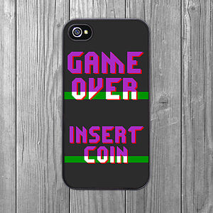 Game Over Insert Coin iPhone Case