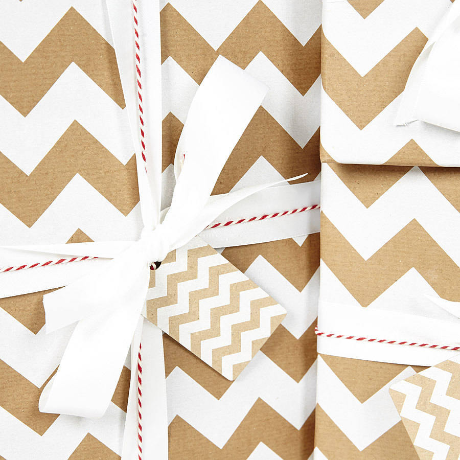 white chevron brown christmas wrapping paper by sophia. Black Bedroom Furniture Sets. Home Design Ideas