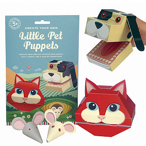 Create Your Own Pet Puppets Activity Kit - view all gifts for babies & children
