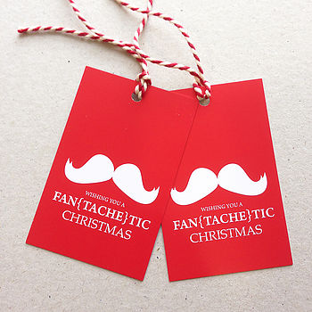 Pack Of Six 'Fantachetic' Gift Tags